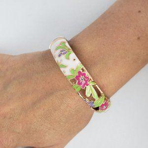 Gold Flower Hinge Bracelet